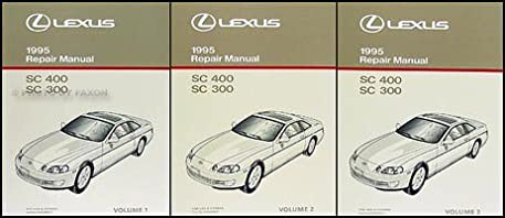 1995 lexus sc 300 400 repair shop manual original 3 volume set sc300 rh amazon com lexus sc400 service manual 1992 lexus sc400 repair manual