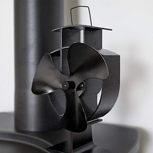 VonHaus Ventilador de Estufa con 3 Aspas Accionado por Calor para Quemador de Leña/Troncos - Aluminio Negro: Amazon.es: Hogar