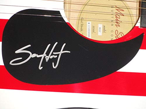 Sam Hunt Autographed Signed Usa Flag Acoustic Guitar Downtowns Dead Country Star JSA Authentic
