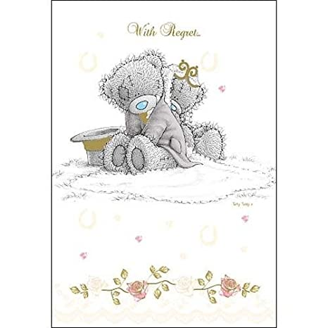 amazon com with regret wedding invitation me to you bear card by me