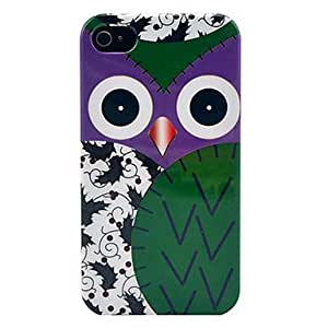 Green Owl Hard Hard Plastic Phone Case for iPhone 4/4S