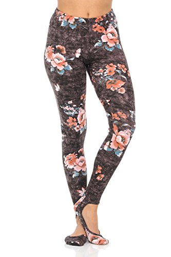 asic Solid Regular/Print Leggings Pants (M/L, D.Brown) (Brown Ladybug)