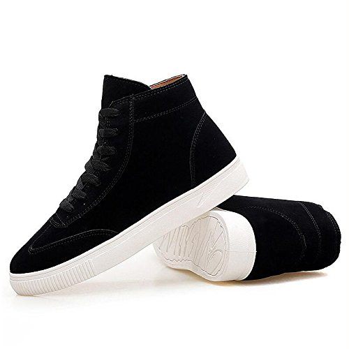 Men's Shoes Feifei Winter Keep Warm High Help Leisure Plate Shoes 3 Colors (Color : Black, Size : EU43/UK9/CN44)