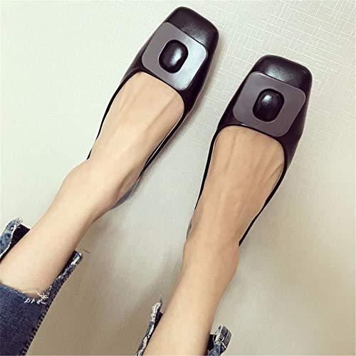 35 de Suave Zapatos Negro Trabajo UE Planos Mujer Damas Solo cómodo y 36 Boca de FLYRCX EU Zapatos Casual Zapatos Embarazada Baja Zapatos Moda xwZqqRf4