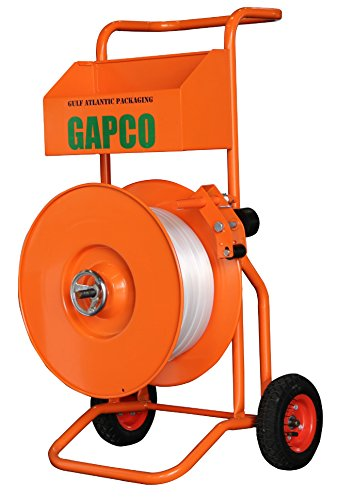 GAPCO T-75 Deluxe Heavy Duty Polyester Woven and Composite Cord Strapping Dispenser / Banding Cart by GAPCO