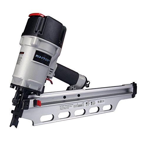 BHTOP 9021NS Framing Nailer 21 Degree 3-1/2″ with Depth Adjustment (Extra Bumper as Gift)