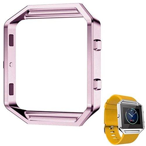 Fitbit Blaze金属フレーム、mchoiceステンレススチールWatchホルダーfor Fitbit Blaze Watch B01FQOEQCM ピンク