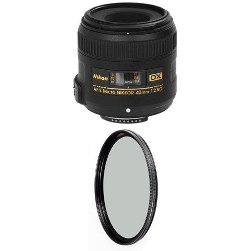 Nikon 40mm f/2.8G Auto Focus-S DX Micro NIKKOR Lens for Nikon Digital SLR Cameras w/ B+W 52mm XS-Pro HTC Kaesemann Circular Polarizer