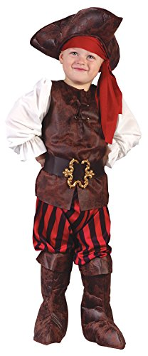 UHC Boy's High Seas Buccaneer Pirate Outfit Toddler Kids Halloween Costume, L (3T-4T)