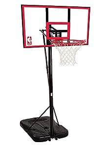 "Spalding NBA Portable Basketball System - 44"" Polycarbonate Backboard"