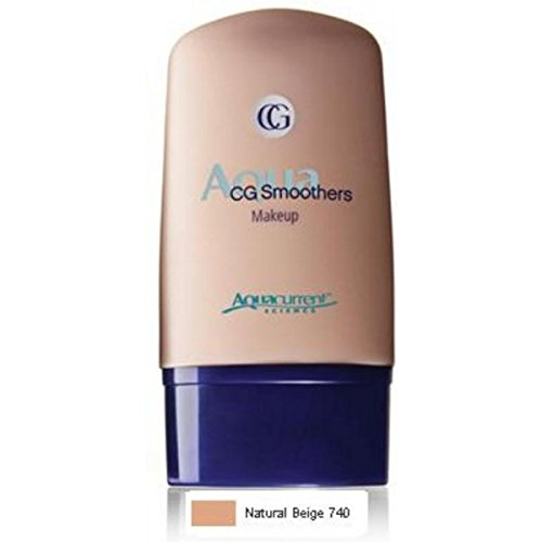 CoverGirl Smoother Liquid Makeup - Natural Beige #740 (Pack of 2) Cover Girl Smoothers Liquid Makeup