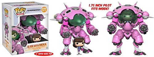 "Funko POP Games: Overwatch D.VA & Meka 6"" POP and Buddy Toy Figure"
