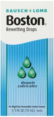 Permeable Contact (Boston Rewetting Drops for Rigid Gas Permeable Contact Lenses, 1/3 Ounce Bottle)