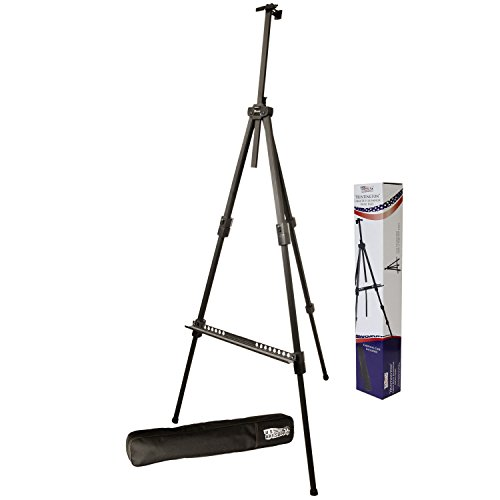 Metal Easel (US Art Supply Huntington (Large) 72 Inches Tall Aluminum Tripod Field and Display Easel-Extra Sturdy Premium Metal Construction with Carry Bag)