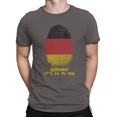 608ce0779afc62 Buzz Shirts Mens Germany T-Shirt ITS in My DNA Fingerprint Football World  Cup 2018