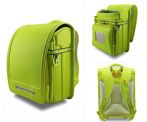 子供のためのPUレザーリュックサック、男の子の女の子のための学生用スクールバッグ、小学校の十代のための日本のブックバッグスクールバッグ B07CF82MMR Fluorescein