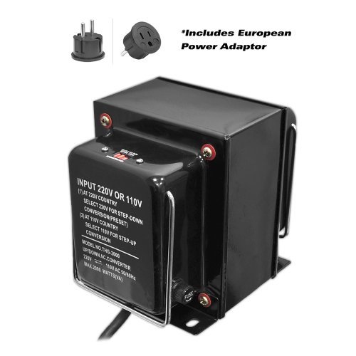 Pyle voltage converter Step Up and Down AC 110/220 Volts Transformer, 2000 Watt by Pyle (Image #1)