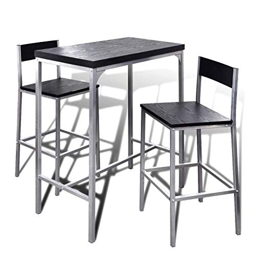 vidaXL Counter Height Breakfast Bar Set Home Kitchen Furniture Table Chairs
