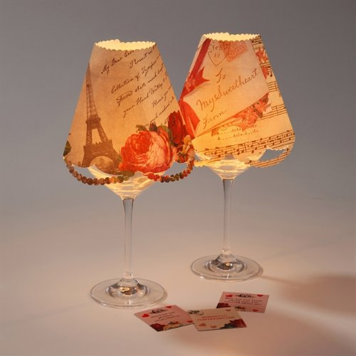 Talking Tables Love Talk Wine Glass Lamp Shades And Table Trivia:  Amazon.co.uk: Kitchen U0026 Home