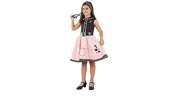 DISBACANAL Disfraz Vestido años 50 para niña - -, 8 años: Amazon ...