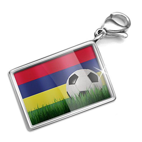 Price comparison product image Clip on Charm & Bracelet Set Soccer Team Flag Mauritius Lobster Clasp