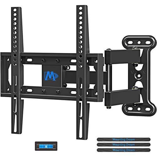 Mounting Dream TV Mount TV Wall Mount Swivel and Tilt for Most 26-55 Inch TV, Perfect Center Design, Full Motion TV Wall…