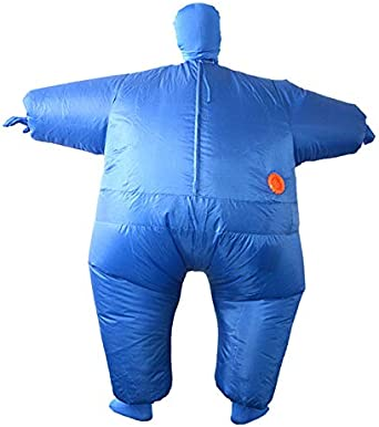 Adult Sumo Suit Inflatable Blowup Full Body Cosplay Costume Jumpsuit Red