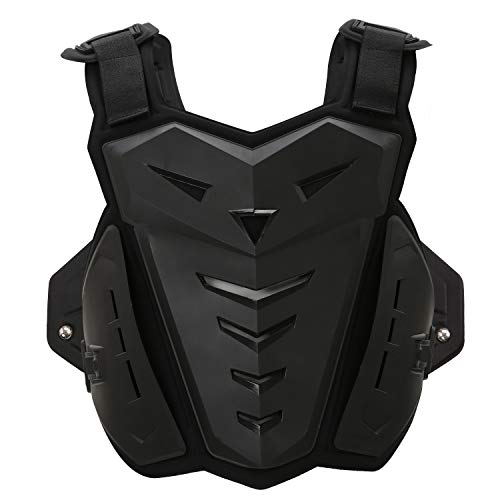 OHMOTOR Chest Back Protector Motorcycle Armor Vest Motorcycle Riding Chest Armor (Black) by OHMOTOR (Image #7)