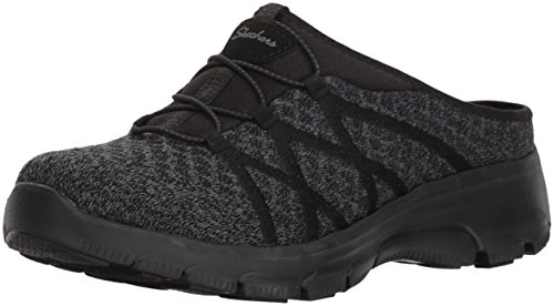 Skechers Women's Knitty Gritty-Knit Bungee Version of The Easy Going-Repute Mule, Black, 10 M US by Skechers