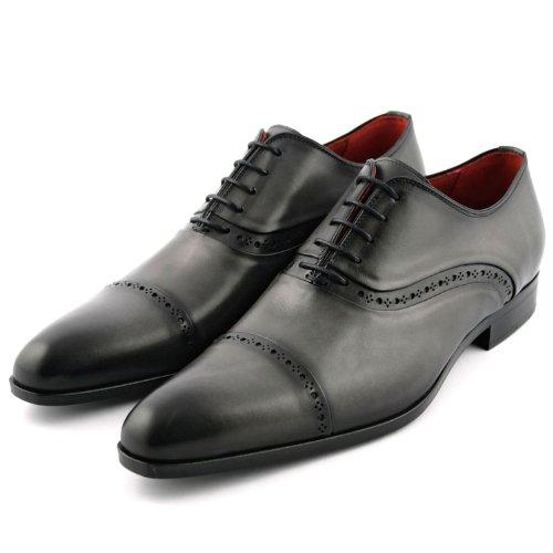 Exclusif Paris Sloane Cuir Gris, Chaussures de ville homme Cuir Gris Taille 43