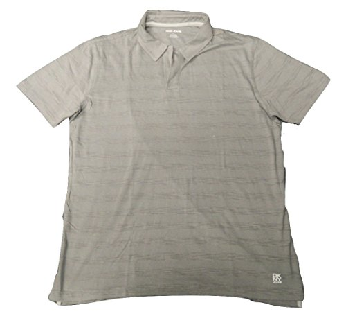 (DKNY Jeans Mens Short Sleeve Polo Shirt M Gray)