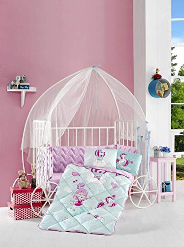 Pika Baby - Nursery Baby Bedding Set - 6 Pieces - Toddler, Baby Bedding Sets (Little Princess)