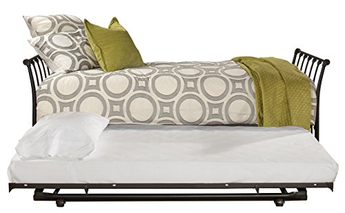 Black Daybed Trundle - Hillsdale Furniture 2169DBT Midland Backless Daybed with Trundle Twin Black Sparkle