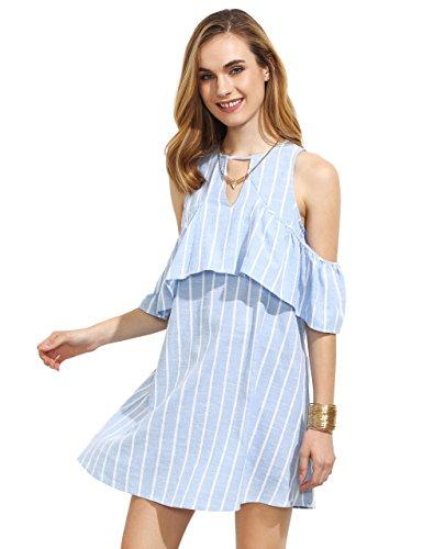 Buy light blue ruffle dress - 6