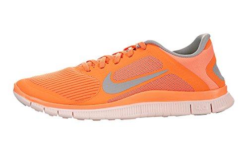 Scarpa Da Corsa Nike Womens Free 4.0 V3 In Arancione / Grigio (580406-800) Taglia 6.5