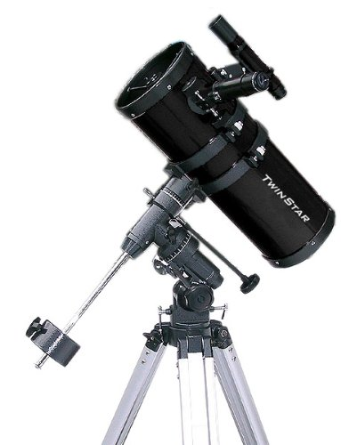Black TwinStar 6'' Short Tube Reflector Telescope EQ Mount by Twin Star