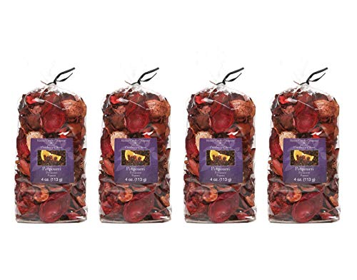 Hosley Cranberry Citrus Potpourri - Set of 4/4 oz Each. Ideal for Dried Floral Arrangements or with Orbs, Potpourri or Just As Decor O9 -