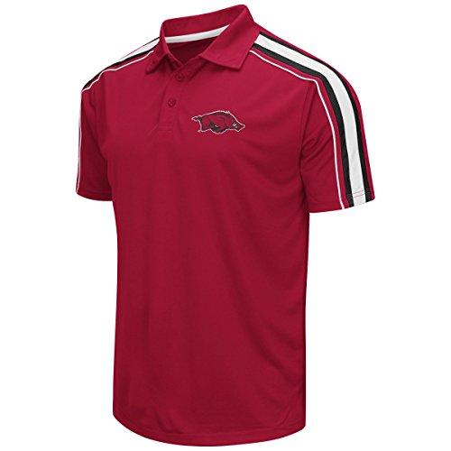 "Arkansas Razorbacks NCAA ""Admiral"" Men's Performance Polo Shirt"