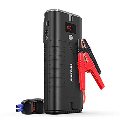 Imazing Portable Car Jump Starter – 2000A Peak 18000mAH (Up to 10L Gas or 8L Diesel Engine) 12V Auto Battery Booster…