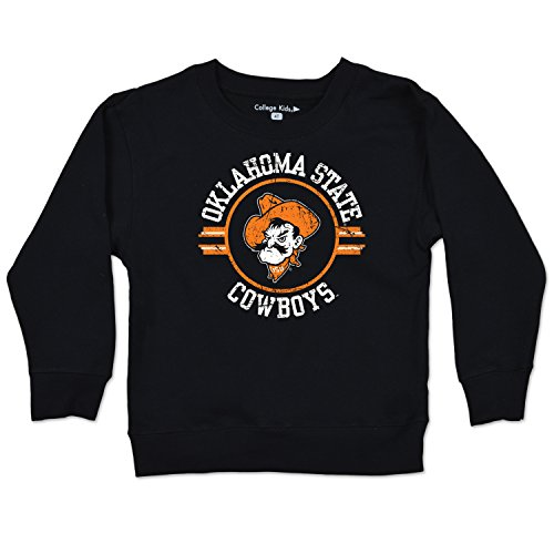 College Kids NCAA Oklahoma State Cowboys Toddler Long Sleeve Tee, 3 Toddler, Black