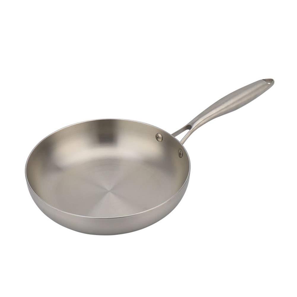 Stainless Steel Fry Pan Dishwasher Safe Oven Safe No-stick Cookware