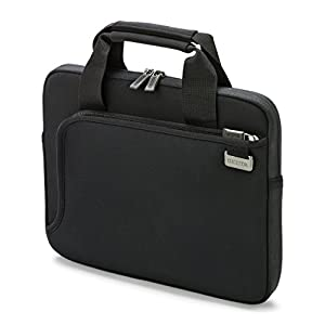 Dicota 13-13.3 Inch Smart Skin Laptop Computer and Tablet Carry Case, Lightweight Sleeve Laptop Case with Handles, Black