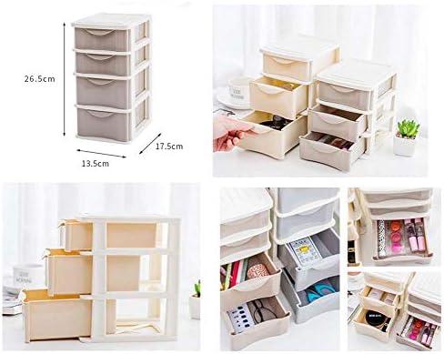 Büro Kunststoff Desktop Aufbewahrungsbox Schubladen Organizer, braun 01