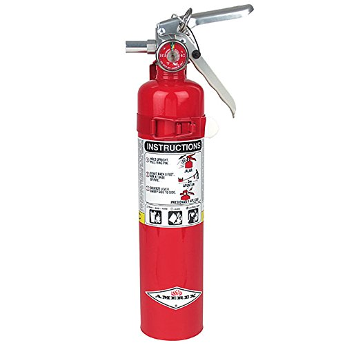 Amerex B417, 2.5lb ABC Dry Chemical Class A B C Fire Extinguisher, with Wall Bracket (Best Extinguisher For Gas Fire)
