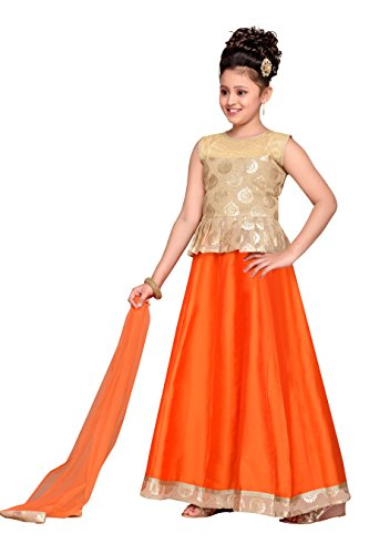 3e02eb729b Adiva Girl's Party Wear Lehenga Choli Set for Kids - Buy Online in ...