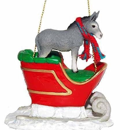 Donkey Christmas Ornaments.Amazon Com Donkey Sleigh Ride Christmas Ornament