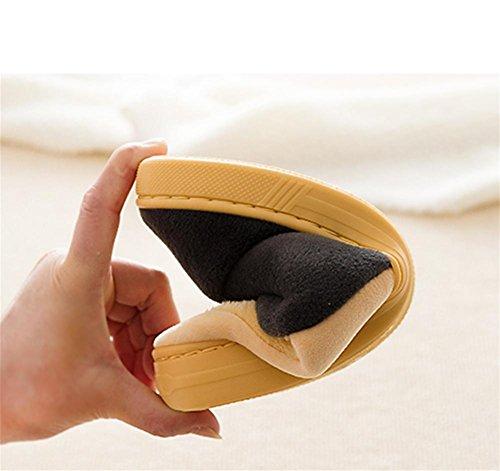 Hausschuhe, Baumwoll-Pantoffeln, Wintertasche mit einem dicken Ende des Hauses Innen-Anti-Rutsch-weichen Unterhaar Warm süße Wattepad Schuhe yellow
