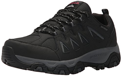 (Skechers Men's Terrabite Oxford, Black/Charcoal, 11.5 2E US)