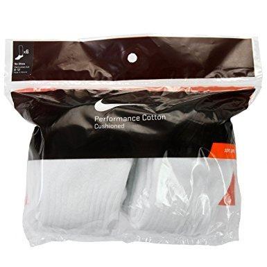 Nike No Show Performance Socks White Large   8-12 Men/10-13 Women