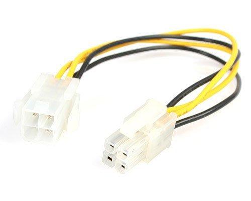 StarTech ATXP4EXT Cable Extensión Alargador Fuente Alimentación Corriente Placa Base CPU ATX12V 4 Pines P4, Macho a Hembra,...